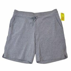 NWT Soft Cotton Shorts, Medium, Drawstring, Gray
